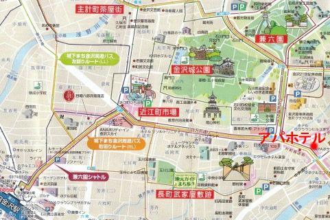 金沢観光地図