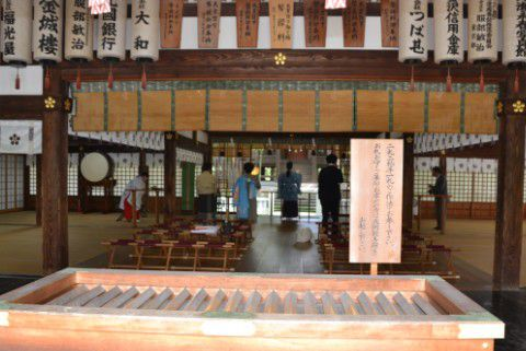 尾山神社 拝殿内部