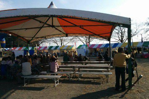 藪塚かかし祭り会場の様子