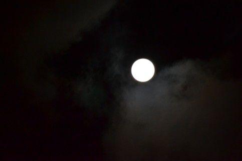 姨捨SAから見た月