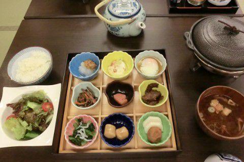旅館清龍 朝食メニュー