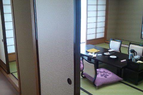 昭和天皇や皇后様のお泊りになった部屋