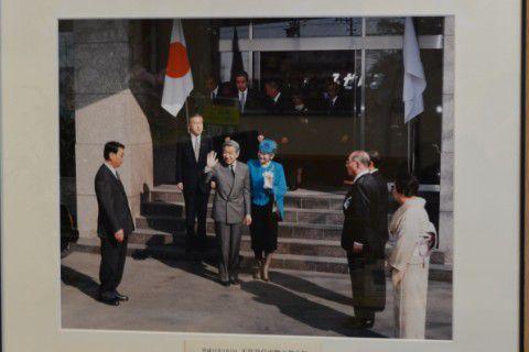 昭和天皇や皇后様の来館当時の写真