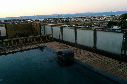 露天風呂からの眺め、朝