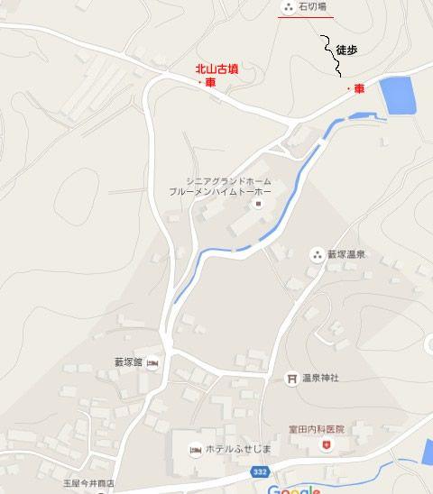 石切場までの地図