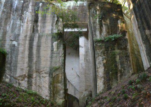 石切場跡の風景