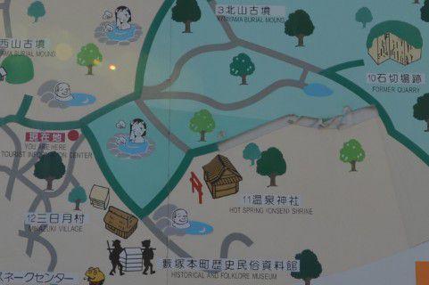 藪塚温泉観光マップ
