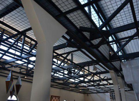 桐生自動車博物館天井
