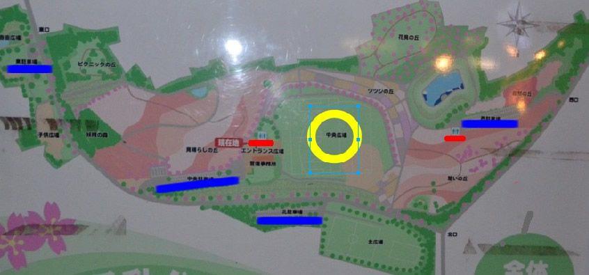 八王子山公園(太田市北部運動公園)園内マップ