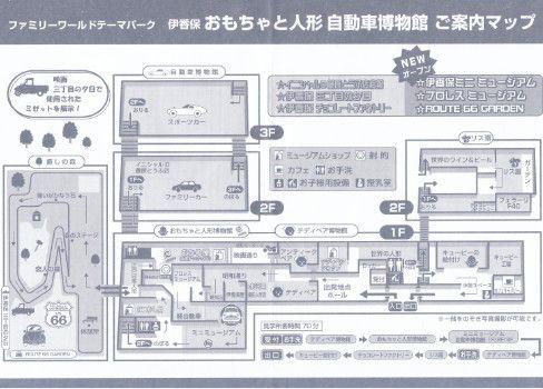 伊香保おもちゃと人形自動車博物館 館内マップ