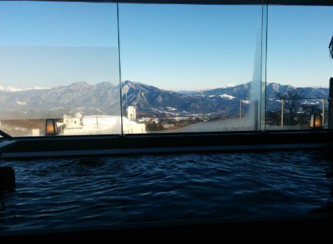 内湯からの眺め