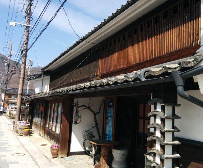 柳町の古い町並み
