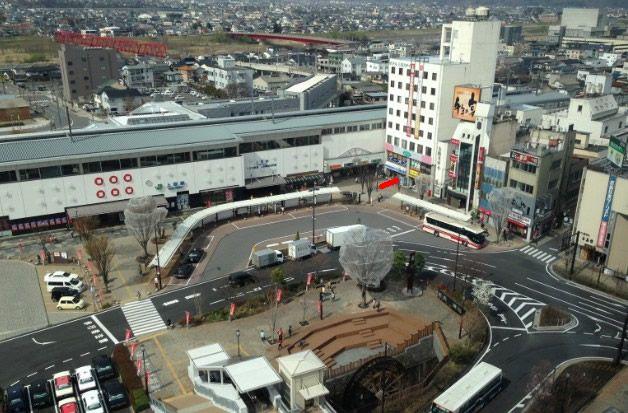 サンルートホテル上田客室からの展望