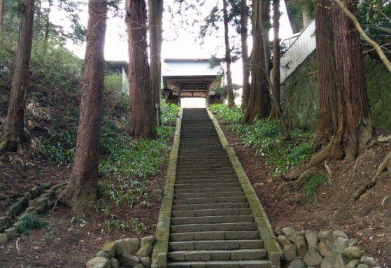 参道の階段