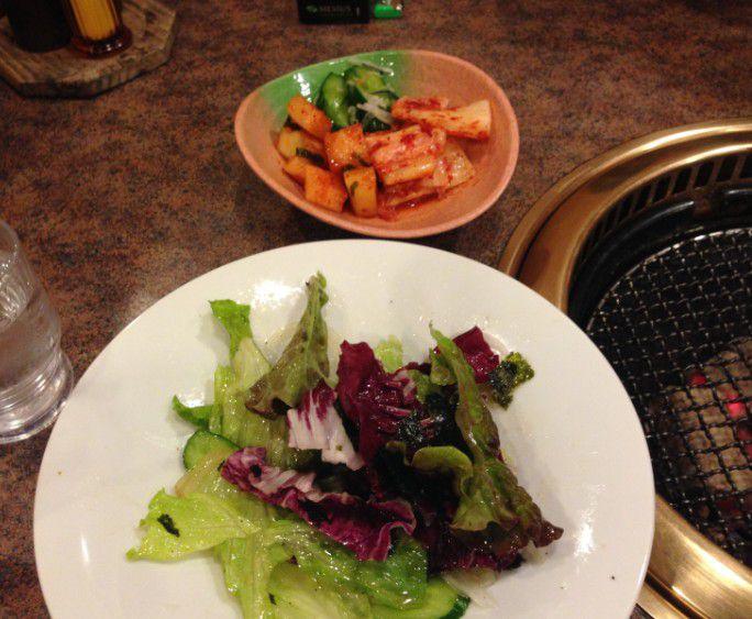 チョレギサラダとキムチ盛り合わせ