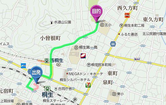 桐生駅からえびす講に行く場合