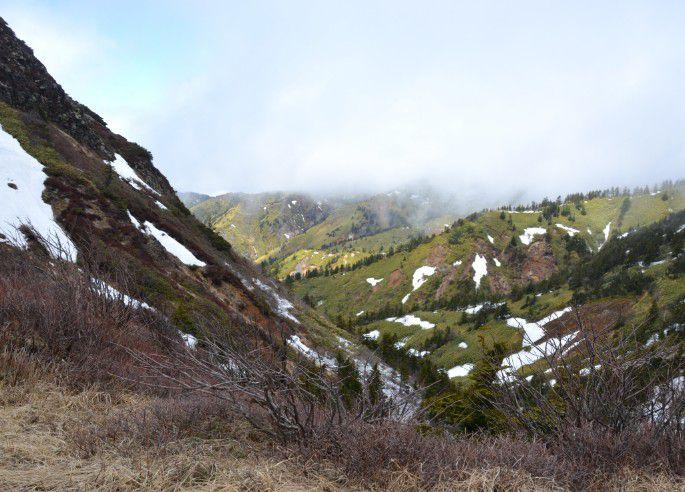 長野県側の山々の景色