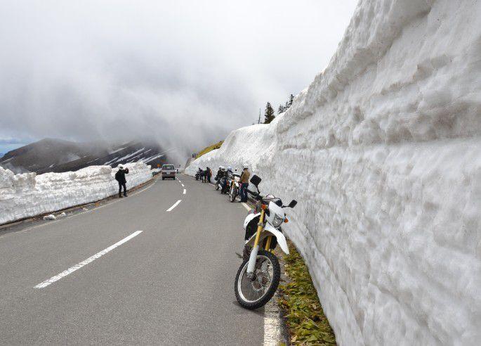 雪の回廊、雪の壁の高さ