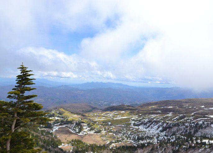 日本国道最高地点からの眺め