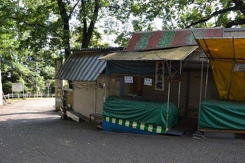 桐生が岡動物園で平日閉まっていた露店