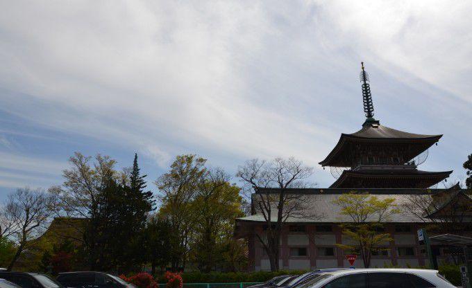 第一駐車場から善光寺