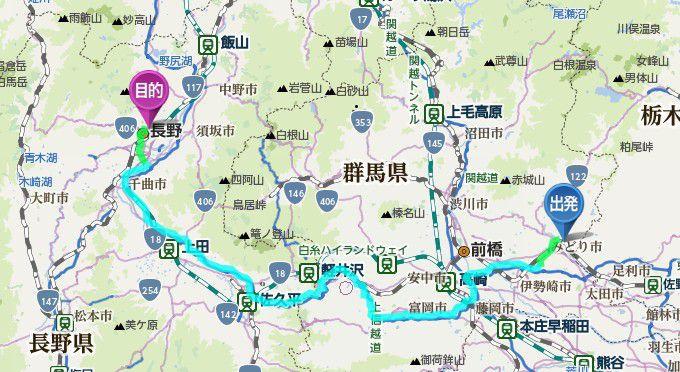 桐生から善光寺までの距離