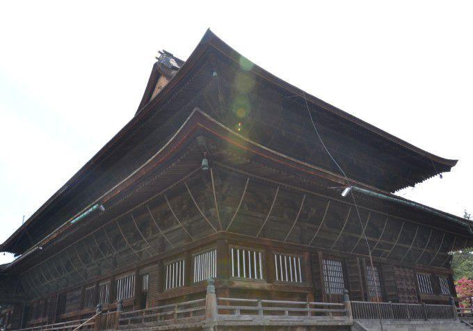 善光寺本堂の裏側