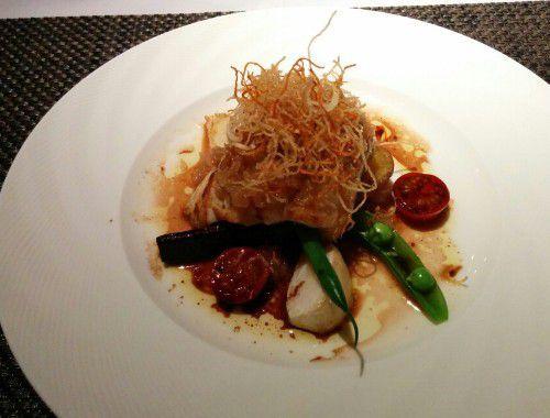 本日活魚のシャリアピン風バルサミコのソース