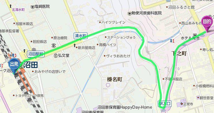 沼田駅から真田丸展へのアクセス