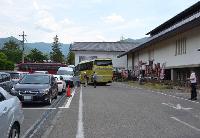 真田宝物館前駐車場の混雑