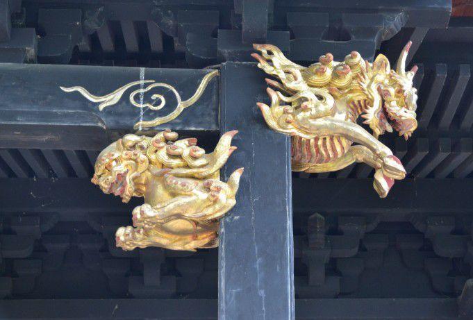 真田信之霊屋の装飾彫刻