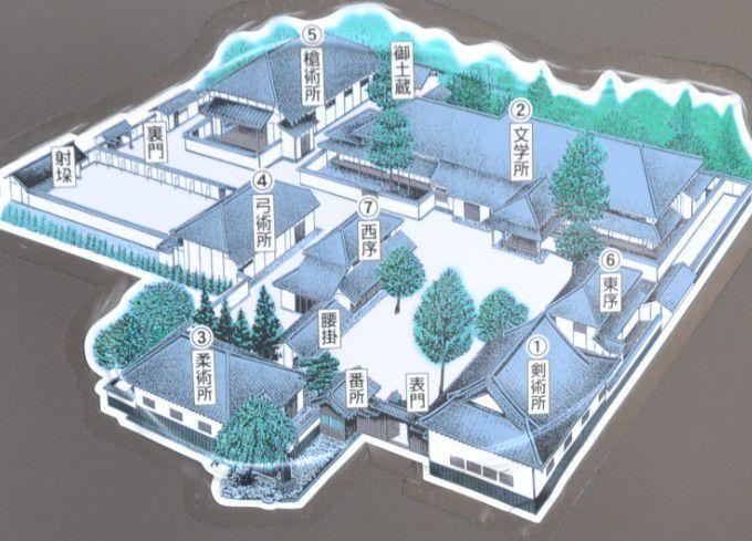 文武学校の地図