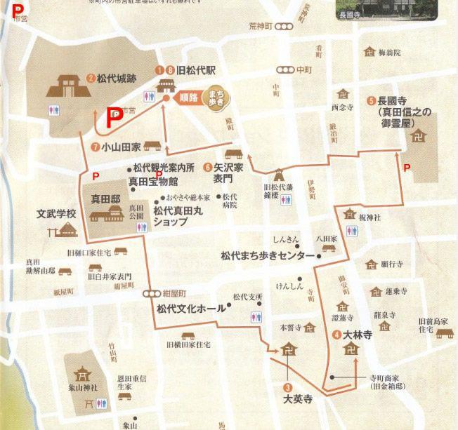 松代観光マップ