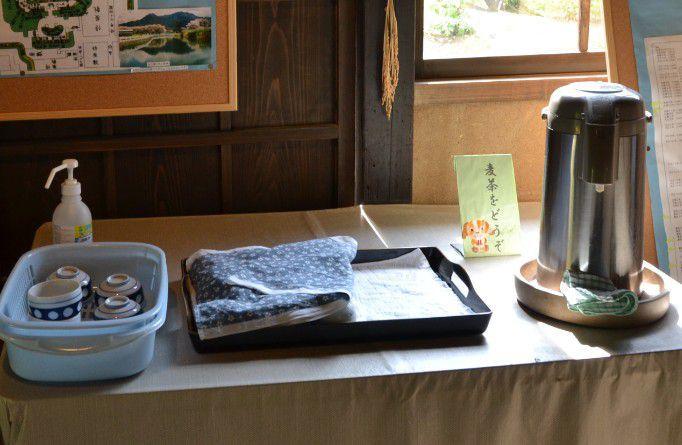 麦茶のサービス