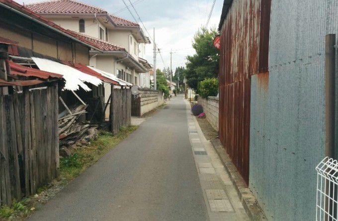 大鋒寺に向かう道