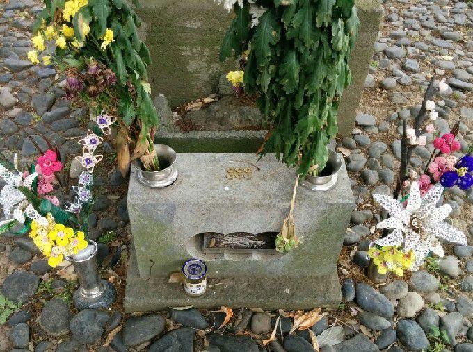 真田信之の墓にあったお供えやお花