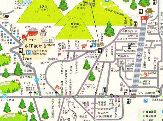 水澤観音周辺マップ