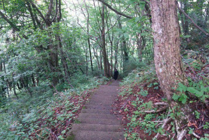 裏見の滝遊歩道の階段