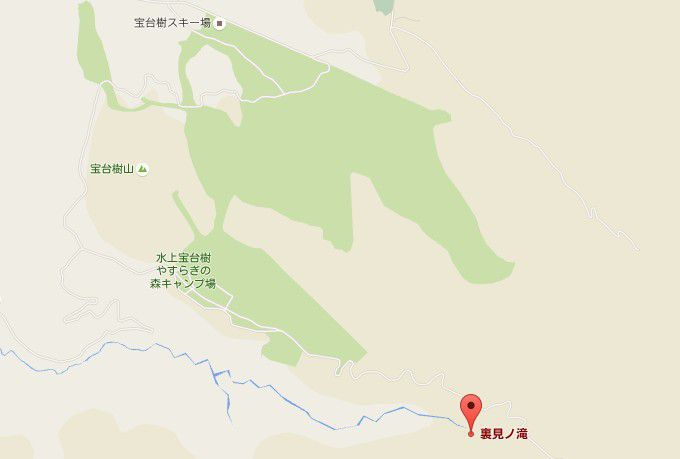 裏見の滝周辺マップ