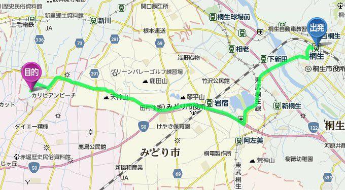 桐生駅からのアクセス