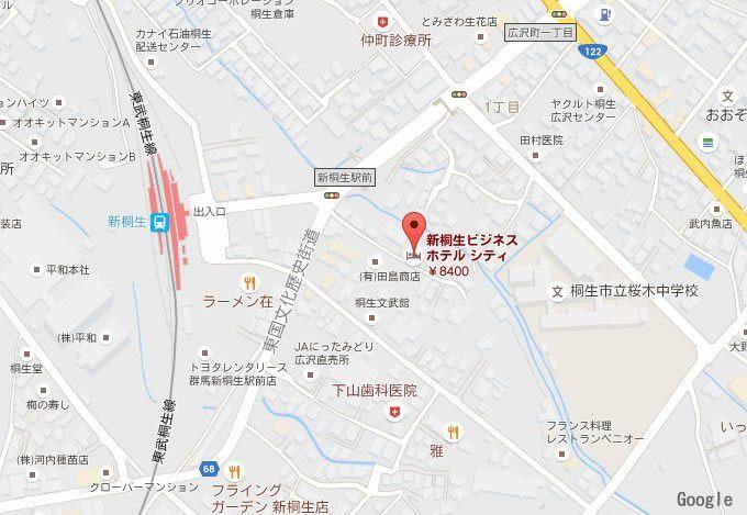 新桐生駅周辺地図