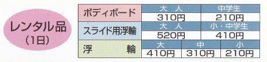 レンタル料金表