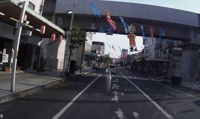 祭り前日の道路状況