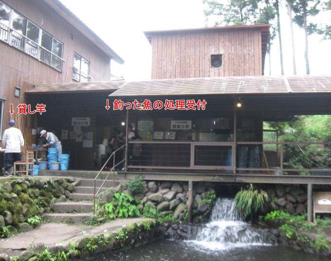 釣った魚の調理場