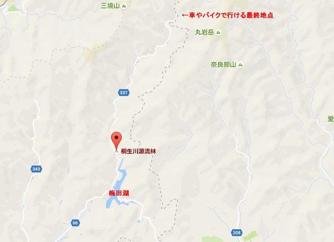 桐生源流林の地図