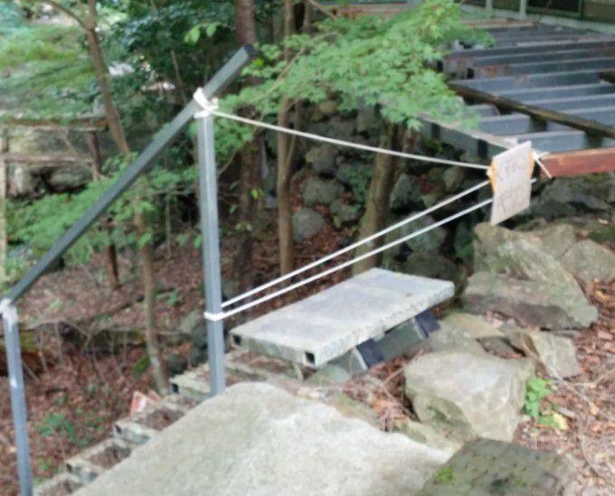 河童神社へ行く階段
