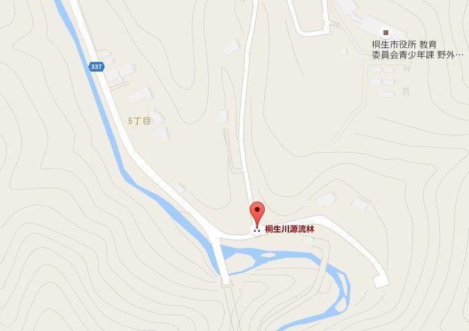桐生川親水護岸の場所