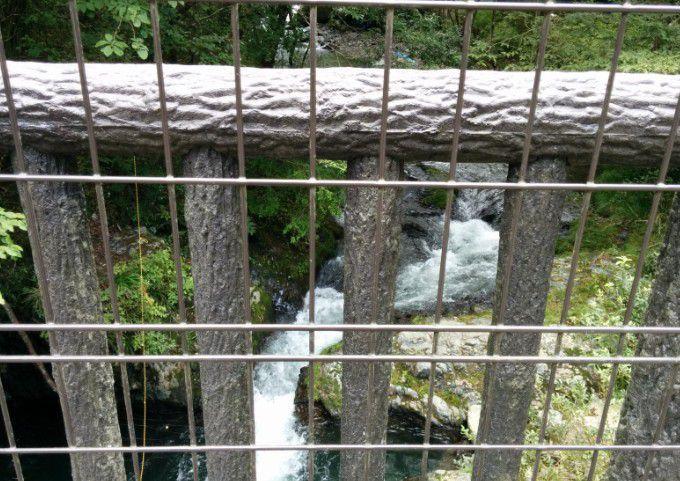 桐生川親水護岸の上流