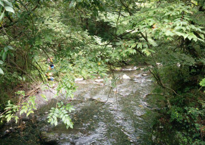 桐生川親水護岸の下流