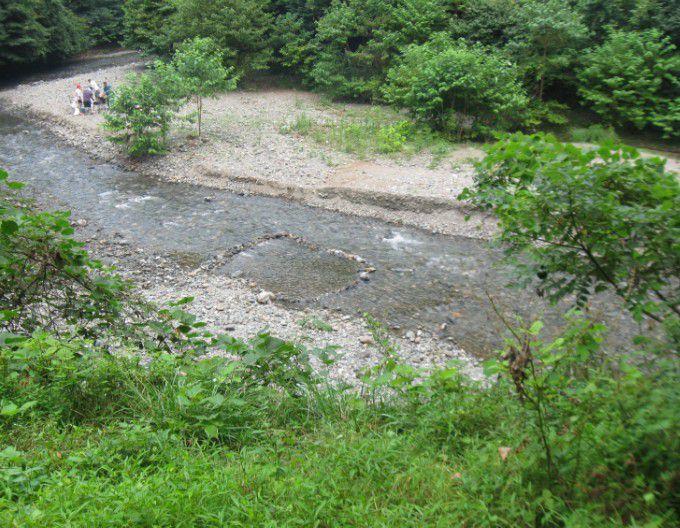 桐生川でバーベキュー